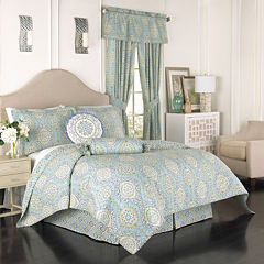 Waverly® Moonlight Medallion 4-pc. Reversible Quilt Set & Accessories
