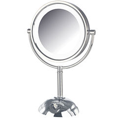 Jerdon Style LED-Lighted Tabletop Mirror