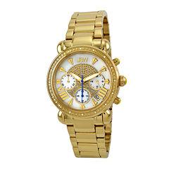JBW Victory Womens 1/6 CT. T.W. Diamond Gold-Tone Stainless Steel Bracelet Watch JB-6210-A