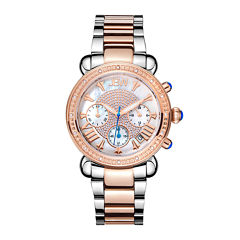 JBW Victory Womens 1/6 CT. T.W. Diamond Two-Tone Stainless Steel Bracelet Watch JB-6210-N