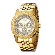 JBW Krypton Mens 1/3 CT. T.W. Diamond Gold-Tone Stainless Steel Watch JB-6219-F