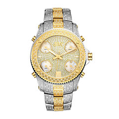 JBW Jet Setter Mens 3 CT. T.W. Diamond Two-Tone Stainless Steel Watch JB-6213-E