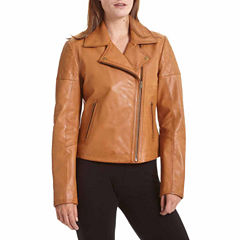 Excelled® Classic Leather Moto Jacket