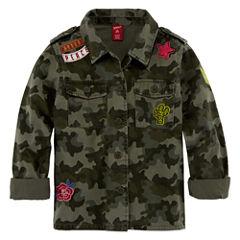 Arizona Military Shirt Jacket - Girls' 7-16 & Plus