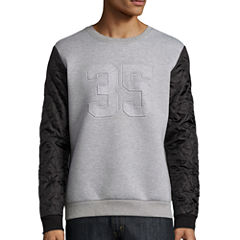 Urban Nation Long-Sleeve Scuba Shirt with Quilted Sleeves