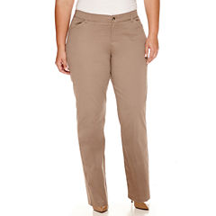 Lee® Freedom Straight-Leg Twill Pants - Plus
