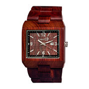 Earth Wood Rhizomes Red Bracelet Watch With Date Ethew1203