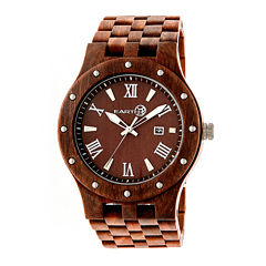 Earth Wood Inyo Red Bracelet Watch with Date ETHEW3203