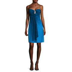 Reigns On Spaghetti Strap Ombré Glitter Party Dress - Juniors