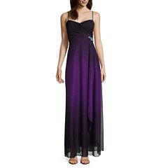 Reign On Spaghetti-Strap Ombré Glitter Long Slim Dress - Juniors