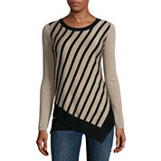 Liz Claiborne® Long-Sleeve Stripe Sweater