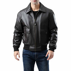 Landing Leathers Men's G-2 Flight Bomber Leather Jacket - Big and Tall