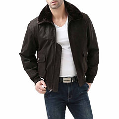 Landing Leathers Men's G-1 Distressed Goatskin Leather Flight Bomber Jacket