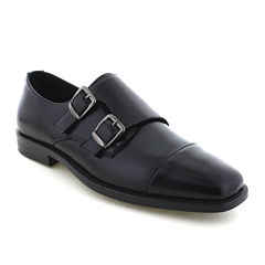 Deer Stags® Colin Cap-Toe Mens Twin-Buckle Leather Shoes