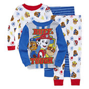 4-pc. Paw Patrol Pajama Set- Toddler Boys 2t-4t