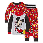 4-pc. Mickey Mouse Pajama Set- Toddler Boys 2t-4t