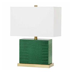 Saurian Faux Crocodile Table Lamp