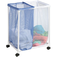 Honey-Can-Do® 2-Bag Mesh Rolling Hamper