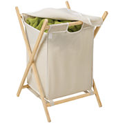 Honey-Can-Do® Folding Wooden Hamper