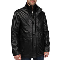 New Zealand Lambskin Leather Car Coat–Big & Tall