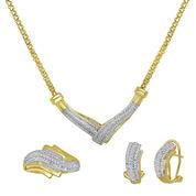 1/4 CT. T.W. Diamond Two-Tone 3-pc. Jewelry Set