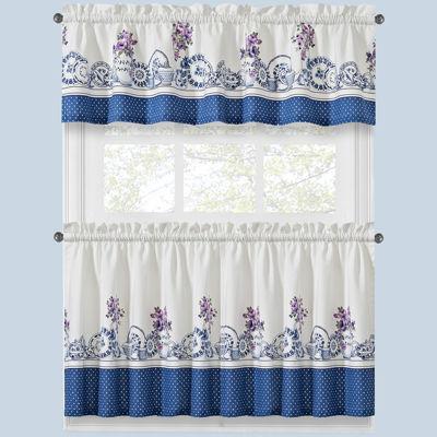 afternoon tea twotone kitchen curtains