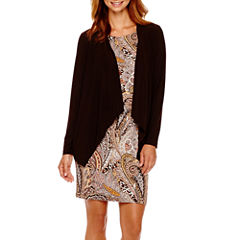 R&K Originals® Long-Sleeve Paisley Print Jacket Dress