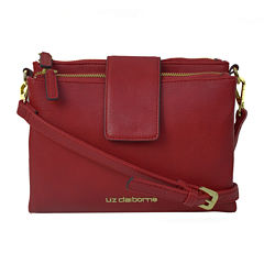 Liz Claiborne® Double Top-Zip Crossbody Bag