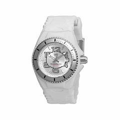 Techno Marine Womens White Strap Watch-Tm-115124