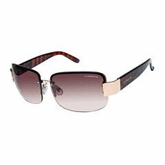 Liz Claiborne Rimless Rectangular UV Protection Sunglasses-Womens