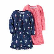 Carter's® 2-pk. Navy Fairies Long-Sleeve Gowns - Toddler Girls 2t-5t