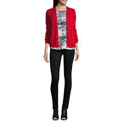 Liz Claiborne® Long-Sleeve Cardigan, Sleeveless Blouse or Ponte Pants