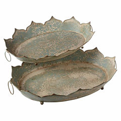 Decorative Petal Tray- Set of 2