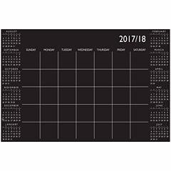 Brewster Wall Black Academic Calendar 2017-18 Message Board