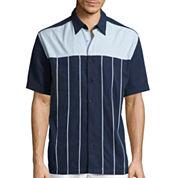 The Havanera Co.® Short-Sleeve Front Yoke Woven Shirt