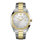 Bulova® Diamonds Mens Diamond-Accent Two-Tone Stainless Steel Watch 98D125