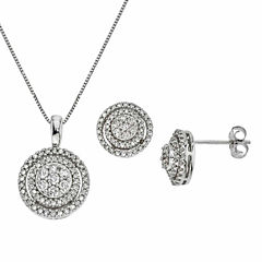 Diamond Blossom Womens 2-pc. White Diamond 10K Gold Jewelry Set