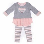 Little Lass Girls Legging Set-Toddler