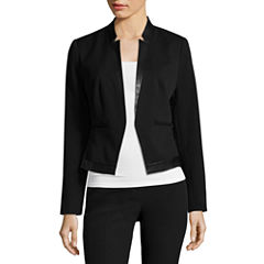 Worthington® Faux Leather Notched Collar Jacket