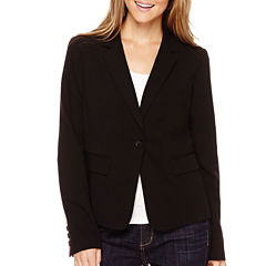 Liz Claiborne® Long-Sleeve Suiting Blazer - Petite