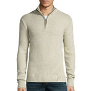 St. John's Bay® Long-Sleeve Quarter-Zip Sweater