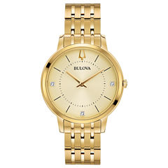 Bulova Womens Gold Tone Bracelet Watch-97p123