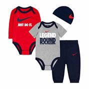 Nike® 4-pc. Obsidian Legend Logo Bodysuit Set - Baby Boys newborn-24m