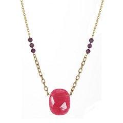 ROX by Alexa Dyed Pink Jade Necklace