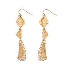 10021 | Kara Ross Crystal Fragment Linear Earrings