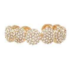 Natasha Crystal Gold-Tone Large Round Bracelet