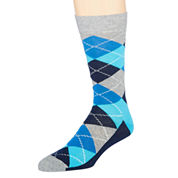 Happy Socks Mens Argyle-Printed Crew Socks