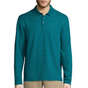 Haggar© Long-Sleeve Polyester Polo