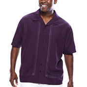 The Havanera Co.® Short-Sleeve Embroidered Shirt- Big & Tall