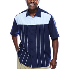 Havanera™ Poly Front Piped Yoke Short Sleeve Shirt